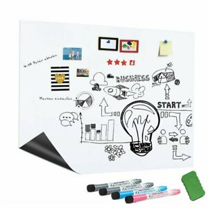 17x12 Refrigerator Magnetic Dry Erase White Board Home Office Planner 4 Marker