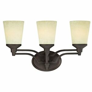 Westinghouse 6302200 Malvern 3 light Wall Fixture Oil Rubbed Bronze Finish