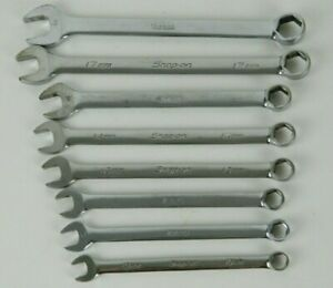Snap On Tools 8pc 6pt Metric Combination Wrench Set 10mm 15mm 17mm 19mm Oshm