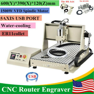Usb 5axis Cnc 6040z Router Engraving Metal Mill Cutting Advertised Machine 1 5kw