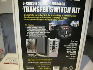 Honda 32313 30408 bhk25 8 Circuit 30amp Generator Transfer Switch Kit New