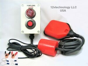 Indoor Outdoor Sump Pump Alarm W Mute Button 12 Volt Battery Septic Sewage Well