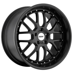 Staggered Tsw Valencia Front 19x8 Rear 19x9 5 5x114 3 Matte Black Wheels Rims