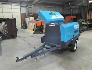 Refurbished 2002 Airman Pds185s 185cfm Towable Air Compressor Only 1619 Hours