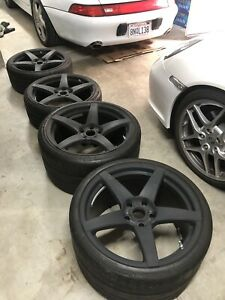 Porsche 911 Forgestar Cf5 Wheels For 997 4s Turbo Widebody No Tires