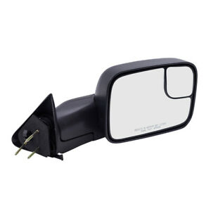 Towing Mirror For 94 02 Dodge Ram Pickup Passengers Manual Flip Up 7x10 Textured