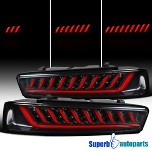 For 2016 2018 Camaro Black Led Tail Lamps Led Sequential Signal reverse Lights