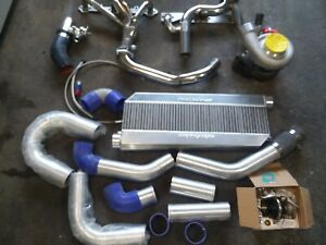 Gt45 T4 92mm Turbo Kit With 3 Core Procharger Intercooler Chevy Small Block