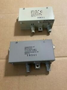Microwave Filter Company 2510 1 505527 2 Tunable Filter 15w 116 150 Mhz