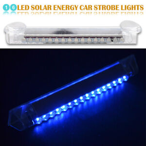 16 Led Car Dash Emergency Strobe Flash Light Bar Warning Signal Lamp Blue