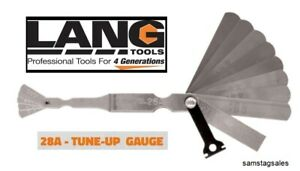 Lang Tools 28a Gas Engine Ignition And Tune up Feeler Gauge For Spark Plug Gap