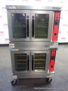 Vulcan Vc4gd 11d150k Gas Double Stack Full Size Convection Oven With Casters