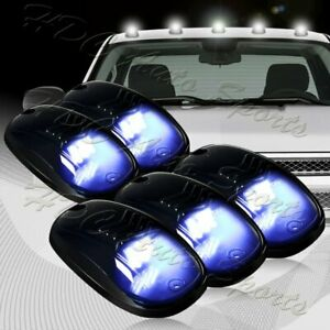 5pcs Roof Top Cab Marker Running Led Strobe Lights Set Smoke Lens White Warning