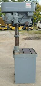 Clausing 2256 Variable Speed Drill Press Table W 2 Mt Quill In Excellent Cond