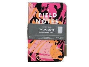 Field Notes Xoxo 2016 Limited Edition Sealed Notebooks 3 pack