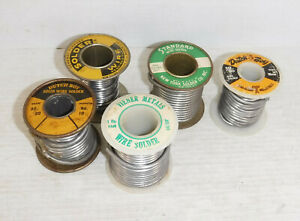 Lot Of Spools Of Old Solder Over 3 Lb 50 50 Tin Lead