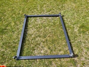 Collapsible Bulk Container Dolly 48 X 40 Move From Work Station To Station New