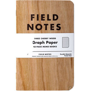 Field Notes Cherry Wood 3 pack fn 23 Sealed