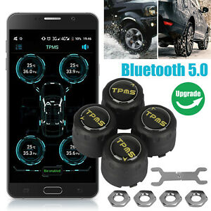Tpms Bluetooth 5 0 Wireless Tire Pressure Monitoring System Sensor App Control