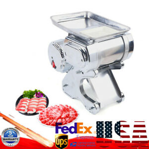 110v Commercial Electric Meat Cutting Machine Meat Slicer Slice Meat Cutter 550w