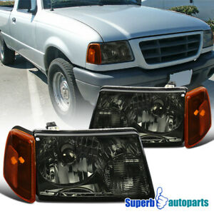 For 2001 2011 Ford Ranger Smoke Headlights corner Signal Lights