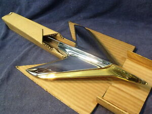 1955 Studebaker President Nos Chrome Hood Ornament W Gold Trim 308692x2