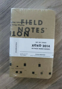 New Field Notes Xoxo 2014 Sealed Set Of 3 Memo Books