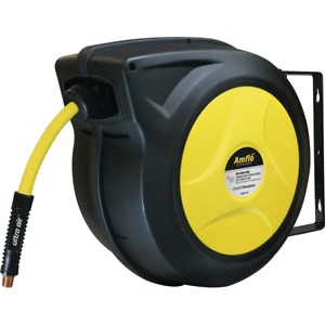 Amflo Ultraair Automatic Air Hose Reel With 3 8 In X 50 Ft Hybrid Hose