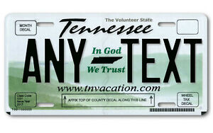 Tennessee Personalized License Plate Any Text Your Name Custom Car Tag Quality
