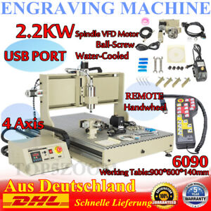 Usb 4 Axis Cnc 6090z Router Engraver Machine Wood Mill Cutting 2 2kw controller