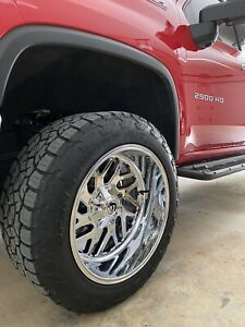 22x12 Fuel Triton Wheels With 35x12 50x22 Toyo Open Country At3 Tires 8x180 Lug