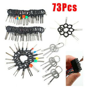 73 Pcs Wire Terminal Removal Tool Car Electrical Wiring Crimp Connector Pin Kits