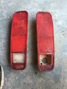 1973 1979 Ford Truck Bronco Rear Red Taillights Tail Lights Brake 1976 1977 1978