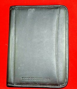 Leed s Notepad organizer Black Leather Cover