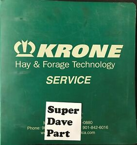 Krone Hay Forage Technology Service Manual Includes Balers Rakes Disc Mowers