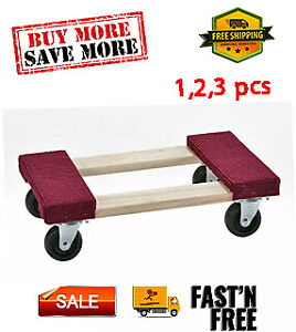 1000 lb Capacity Wood Furniture Dolly Great For Moving Heavy Items