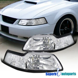 For 1999 2004 Ford Mustang Headlights Head Lamps Pair Left right