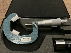 Mitutoyo 114 103 25mm To 40mm Metric V anvil Outside Micrometer