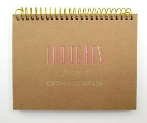 Spiral Small Notepad Thoughts From A Crowded Brain 50 Cards 6 X 4 5 New