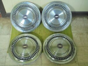 75 88 Chevrolet Truck 16 Hubcaps C20 Set Of 4 Wheel Covers Chevy 3 4 Ton
