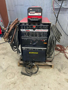 Lincoln Square Wave Tig 355 Ac dc Tig Stick Arc Welder With Water Cooler Ph1