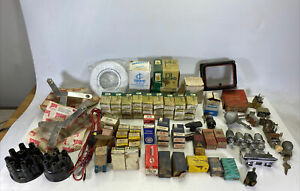 Huge Lot Over 70 Vintage Car Parts Filko Standard Fomoco Chrysler Nos