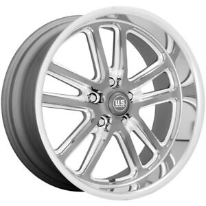 Us Mags U130 Bullet 20x9 5 5x4 75 1mm Gunmetal Milled Wheel Rim 20 Inch