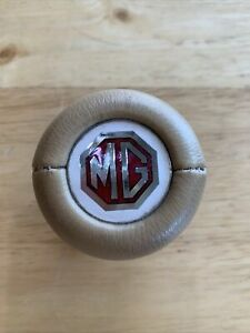 Vintage Nos Amco Mg Logo Shift Knob Tan Vinyl 5 16 Thread