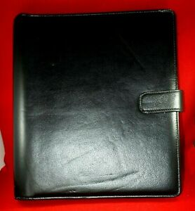 Franklin Covey Day Timer Planner orgnzr Leather W Swingpad Hole Puncher