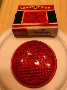 1937 Ford Nos Red Glass Tail Light Lens Lynx Eye T 305 Pair Hot Rat Rod Scta