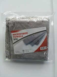 Microfiber Towels Gray Color 3 Count New In Package