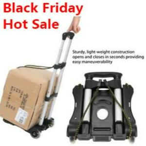 Lightweight Folding Hand Truck Portable Luggage Cart With Wheels Bungee Cord