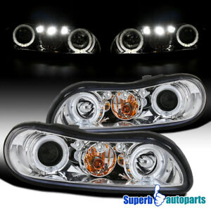 For 1997 2003 Chevy Malibu Led Halo Projector Headlights Head Lamps Replacement