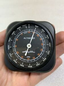 Vintage Airguide Altimeter No 1626 Made In Japan 0 16000 Feet Car Accessory